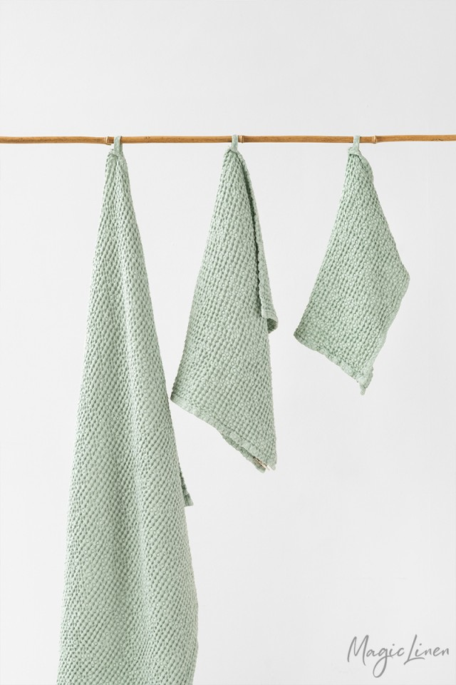 Sage Green Linen Towel