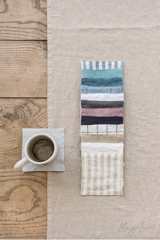 Linen coaster set of 4