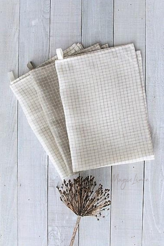 Linen tea towel set (3 pcs)
