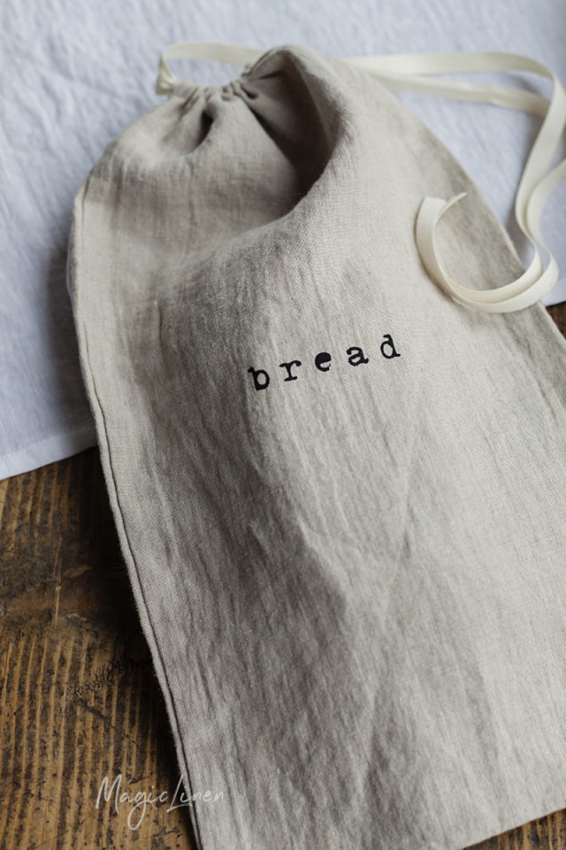 Printed Linen Bread Bag Magiclinen