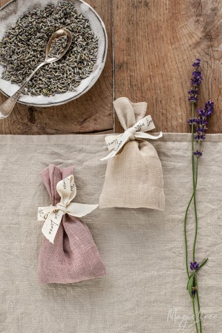 Linen lavender sachet (set of two)