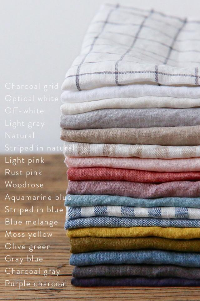 Linen bed skirt with ties