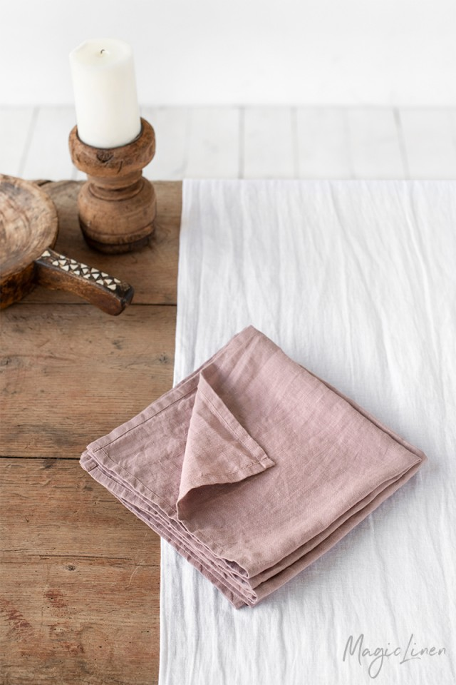 Woodrose linen napkin set of 2