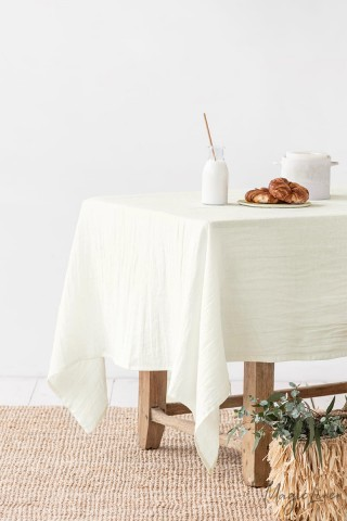 Ivory Linen tablecloth