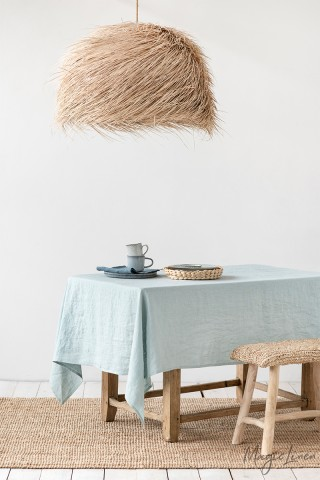 Dusty Blue Linen tablecloth