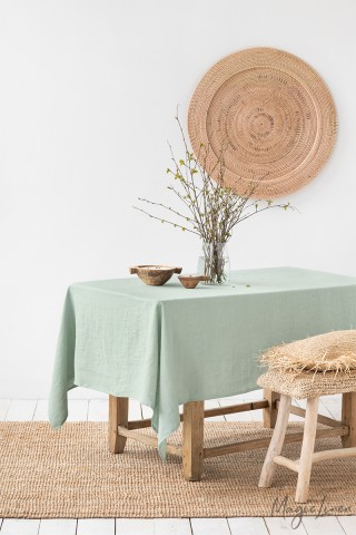 Sage Green Linen tablecloth