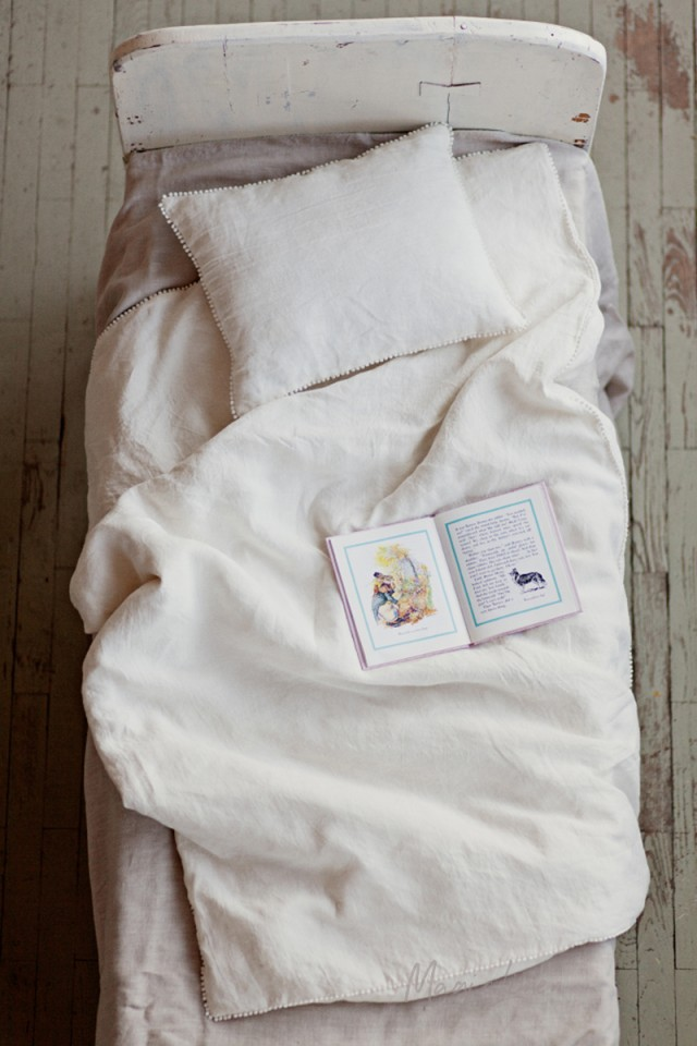 Linen baby bedding set