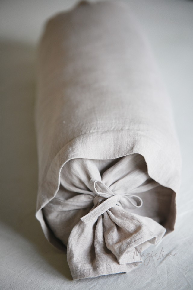 Linen Bolster Pillow Cover Magiclinen