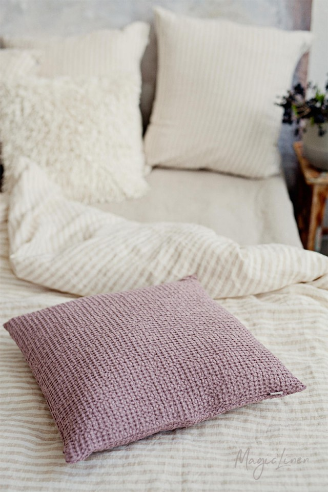 Waffle Throw Pillow Cover Magiclinen
