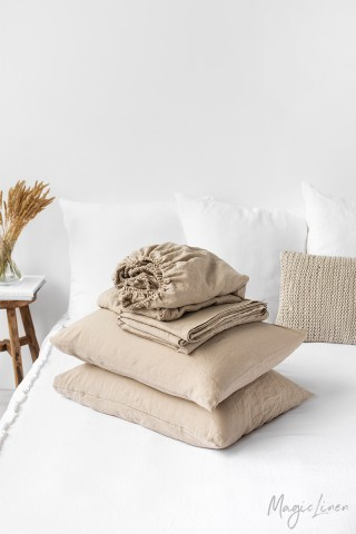 Natural linen sheet set (4 pcs)