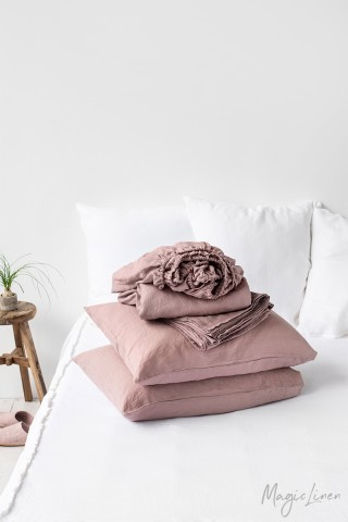 Woodrose linen sheet set (4 pcs)