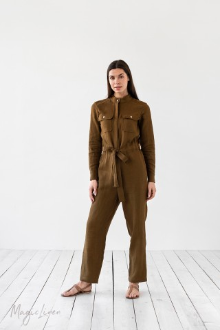 Linen boilersuit Amalfi