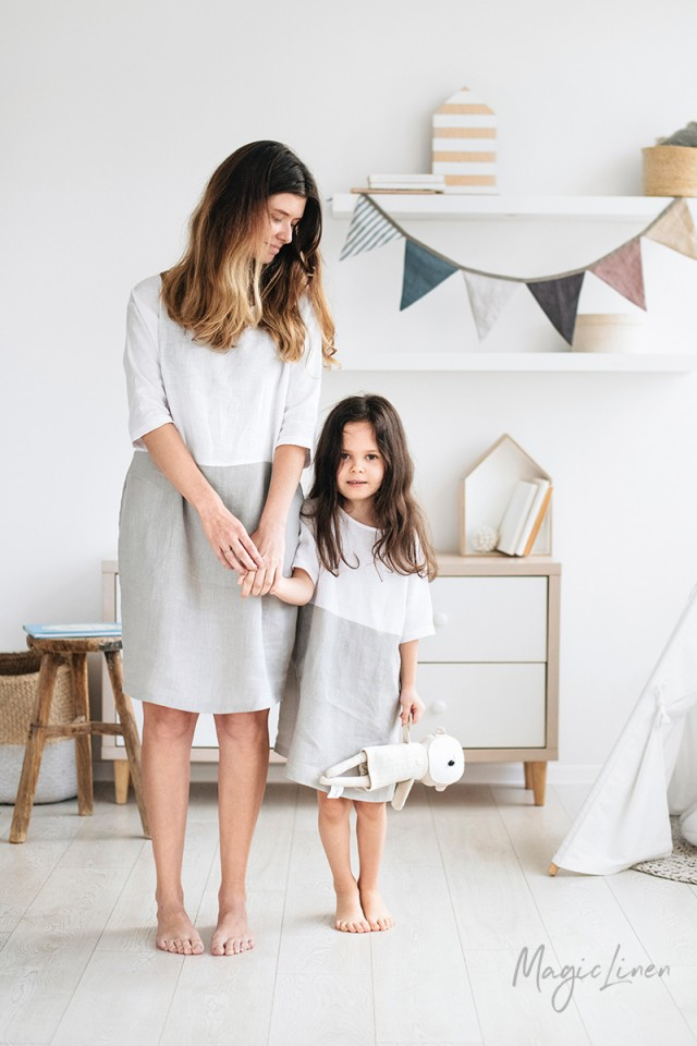 Girls linen dress Adria Mini