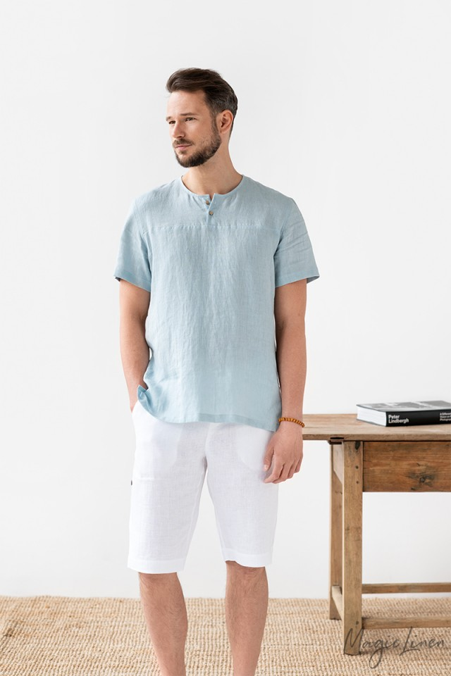 Short sleeve men's linen t-shirt LAGOS