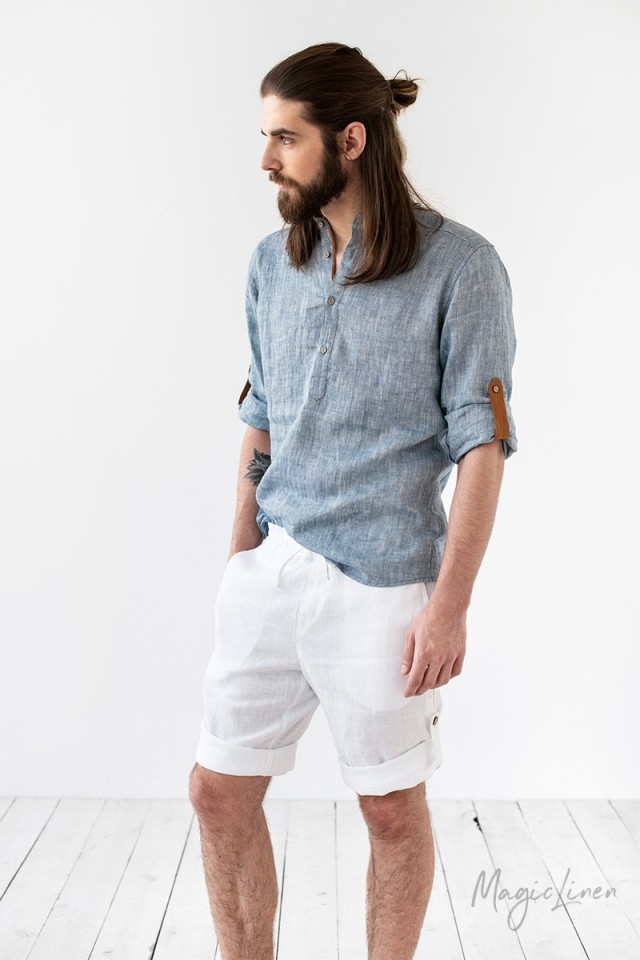 Men's linen shorts Capo