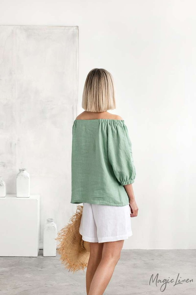 Loose fit linen shorts CORTINA