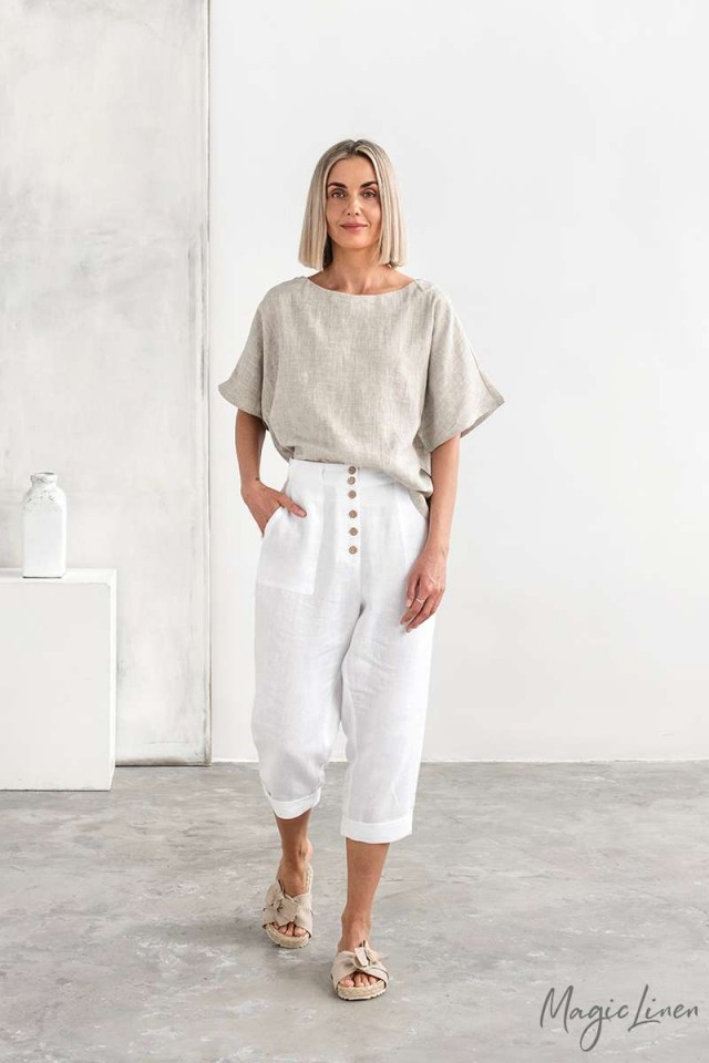 Relaxed fit linen pants PAIA