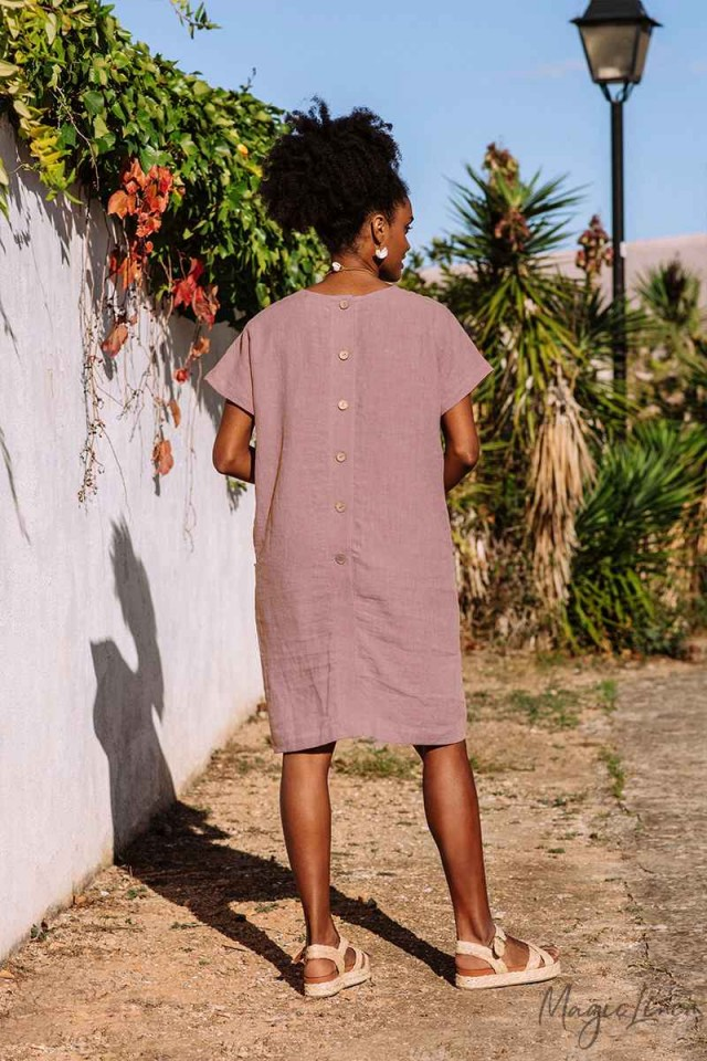 Linen relaxed fit tunic TYBEE
