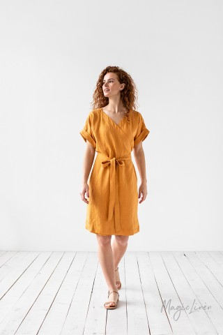 Linen wrap dress Sofia