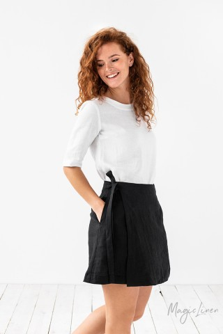 Mini linen wrap skirt Masca