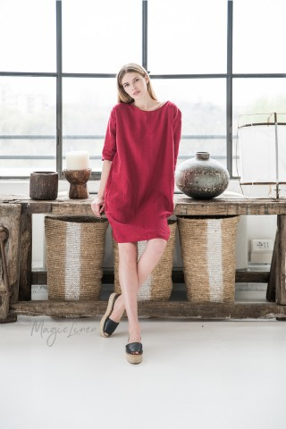 Relaxed fit linen dress Marrakesh