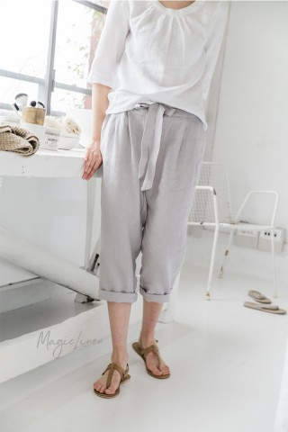 Cropped linen pants CAPRI