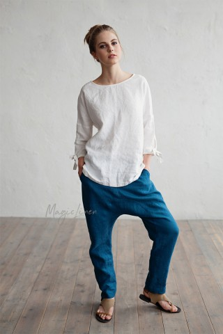 Relaxed fit linen pants Fiji