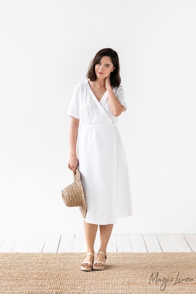 Wrap Linen Dress Olite