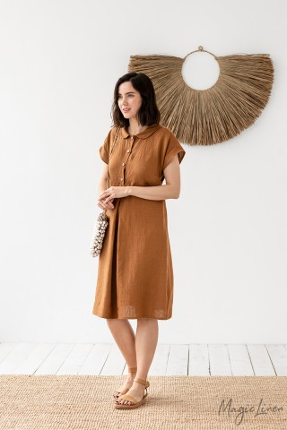 Maternity linen dress Abilene