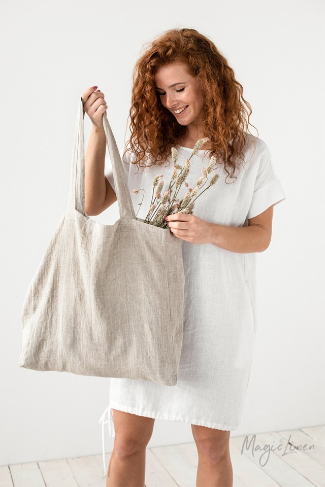 Large Linen Bag Tote Bags
