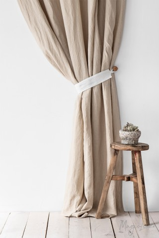 Linen curtain tie-back (set of two)